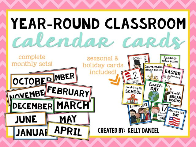 Get prepared and organized at BTS with this complete year-round calendar card set! It includes months Sep-Jun, years from 2016 to 2020, AND a collection of holidays, special events, and seasonal cards that you may celebrate throughout the school year!