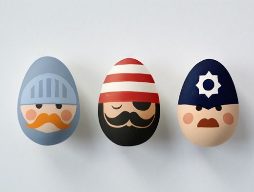 Gilberft & Sullivan easter eggs! (right to left - One of Princess Ida's brothers, one of the Pirates of Penzance, and one of the Police Sergeant, whose lot is not a happy one. This could get very addictive as well as creative. - http://thebigegghunt.org/ ...