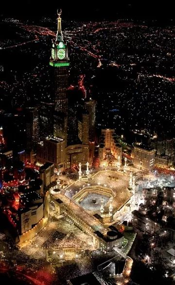 BREATHTAKING WIEV OF KAABA, MECCA ABRAJ AL-BAIT CLOCK, TOWER,SAUDI ARABI It is the third tallest building in the world Makkah Royal Clock Tower Hotel, is a government-owned mega-tall building complex in Mecca, Saudi Arabia....