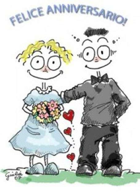Biglietti di auguri per l'anniversario di nozze - Felice anniversario