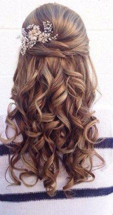 Half up half down hairstyles (32) #weddinghairstyles