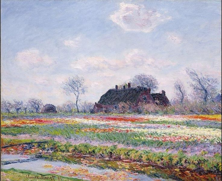 Tulip fields at Sessenheim by Claude #Monet (1840-1926) - #pintura #art #artwit #twitart #iloveart #fineart #painting