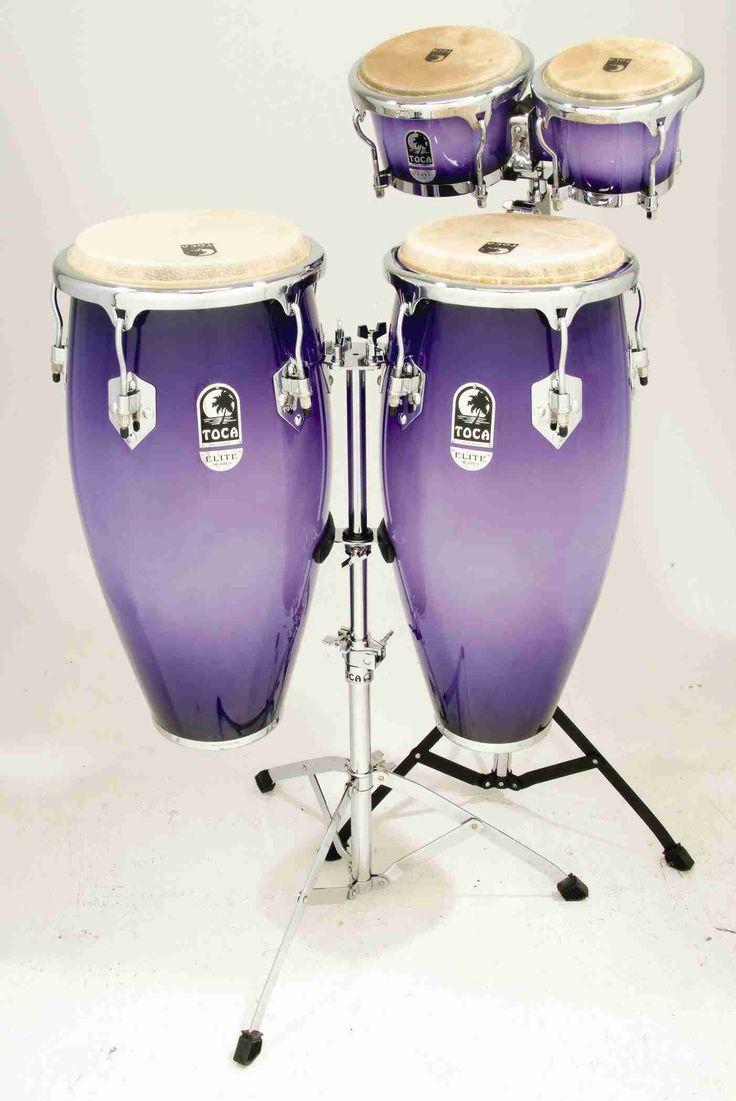 Purple bongo drum set...AAAAAAAAHHHHHHH
