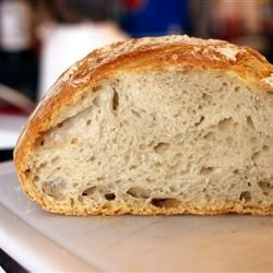 Knapperig brood zonder kneden