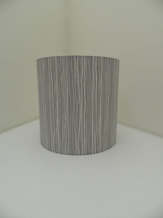 Mid Century Scandi Style Grey Bark Fabric by MakeHayDesign on Etsy, £26 30cm diam.