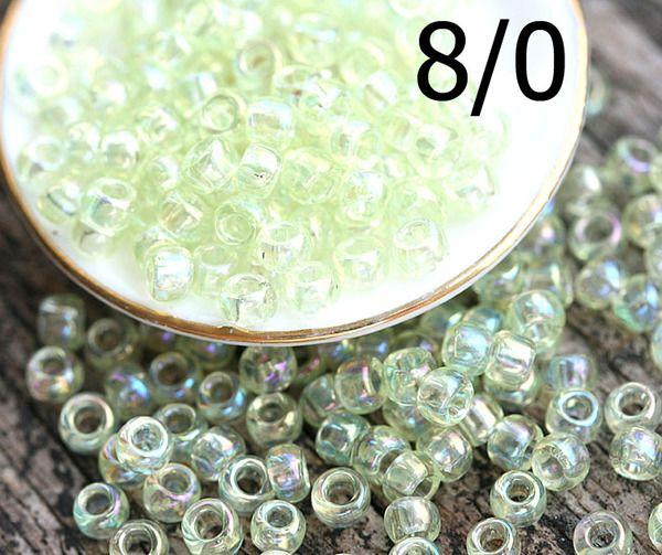 8/0 Toho Seed Beads N 173 Dyed Rainbow Lemon Mist 10g