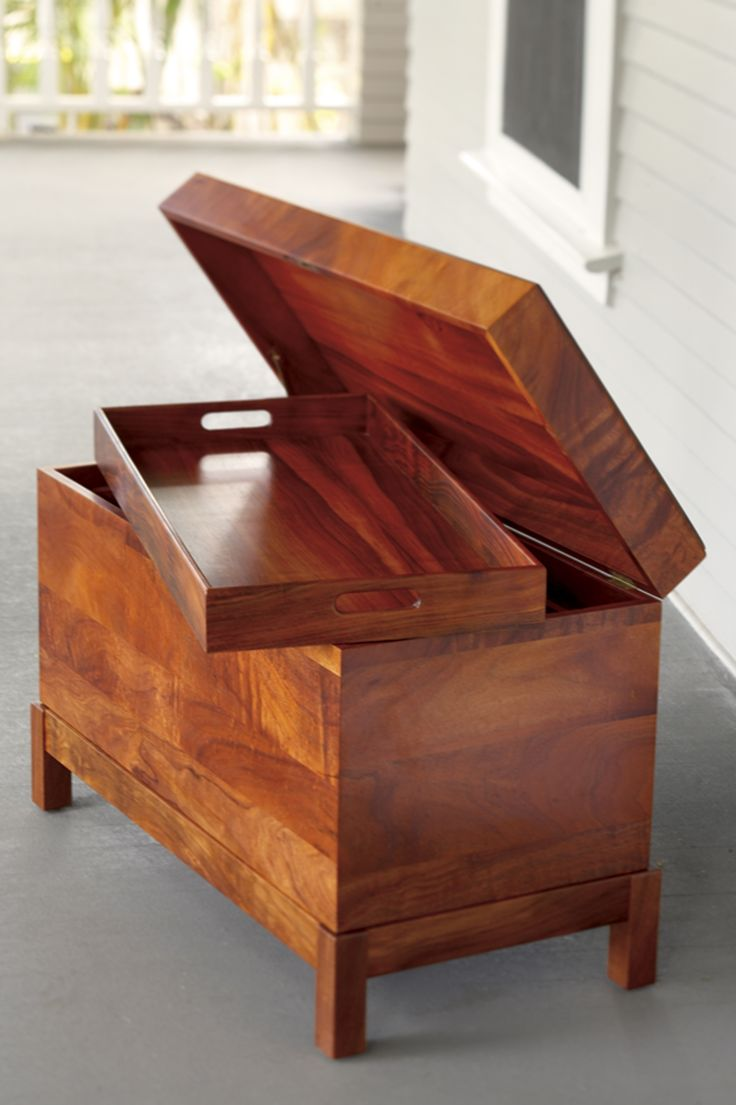 Immigrant's Trunk, made in Hawaii by Martin MacArthur from solid Koa wood.  www.