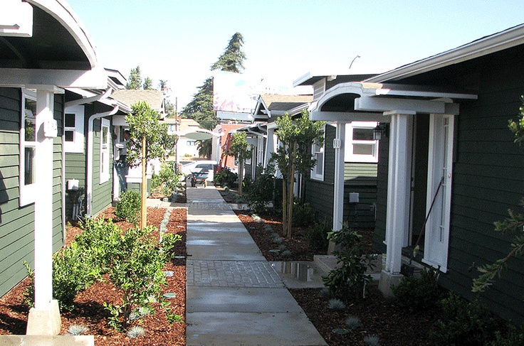139 best pocket neighborhood bungalow courts images on for Small houses for seniors