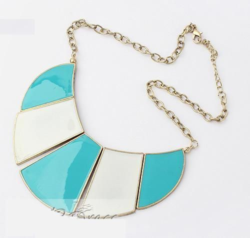 Korean Colorful Summer Sector Alloy Fashion Necklace Check out Dieting Digest
