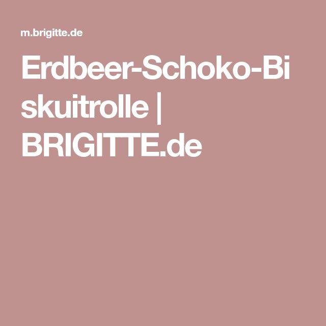 Erdbeer-Schoko-Biskuitrolle   BRIGITTE.de