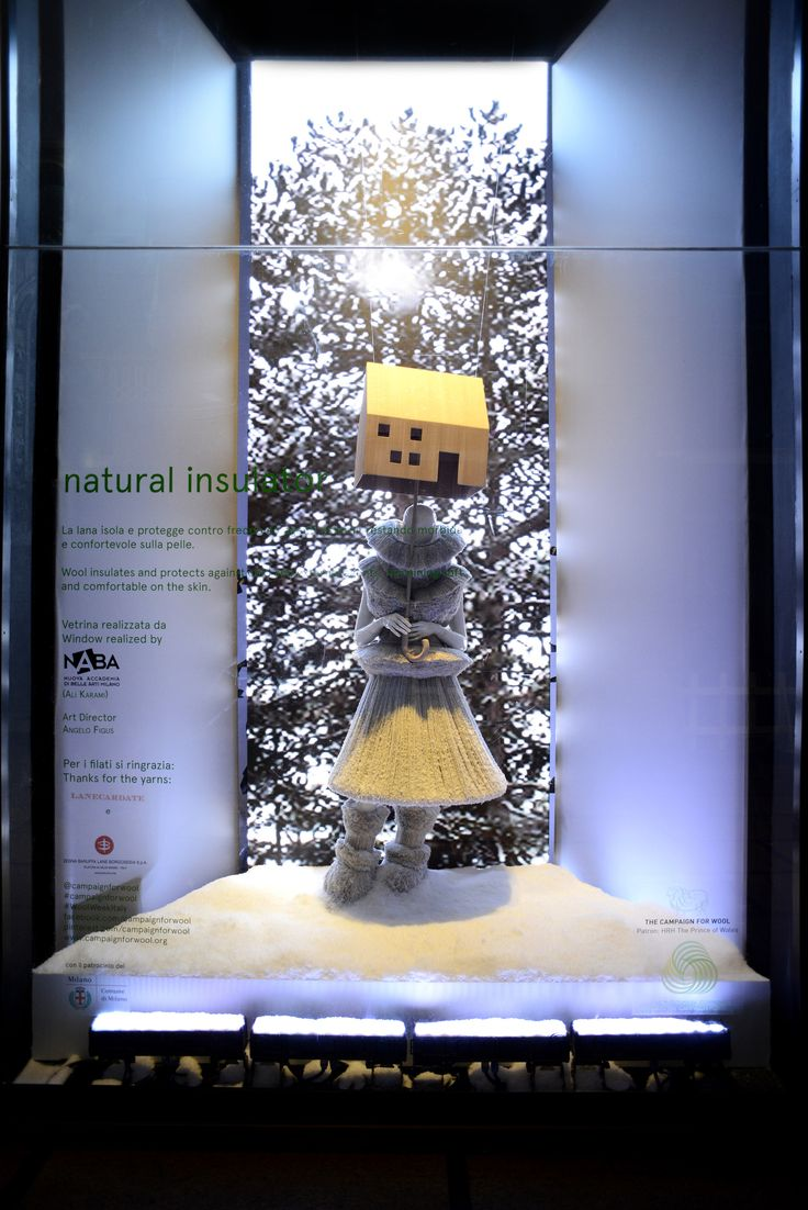 Showcasing the fantastic qualitites and characteristics of Merino wool. Natural Insulation by Naba (Nuova accademia di belle arti Milano) — at La Rinascente #WoolWeekItaly