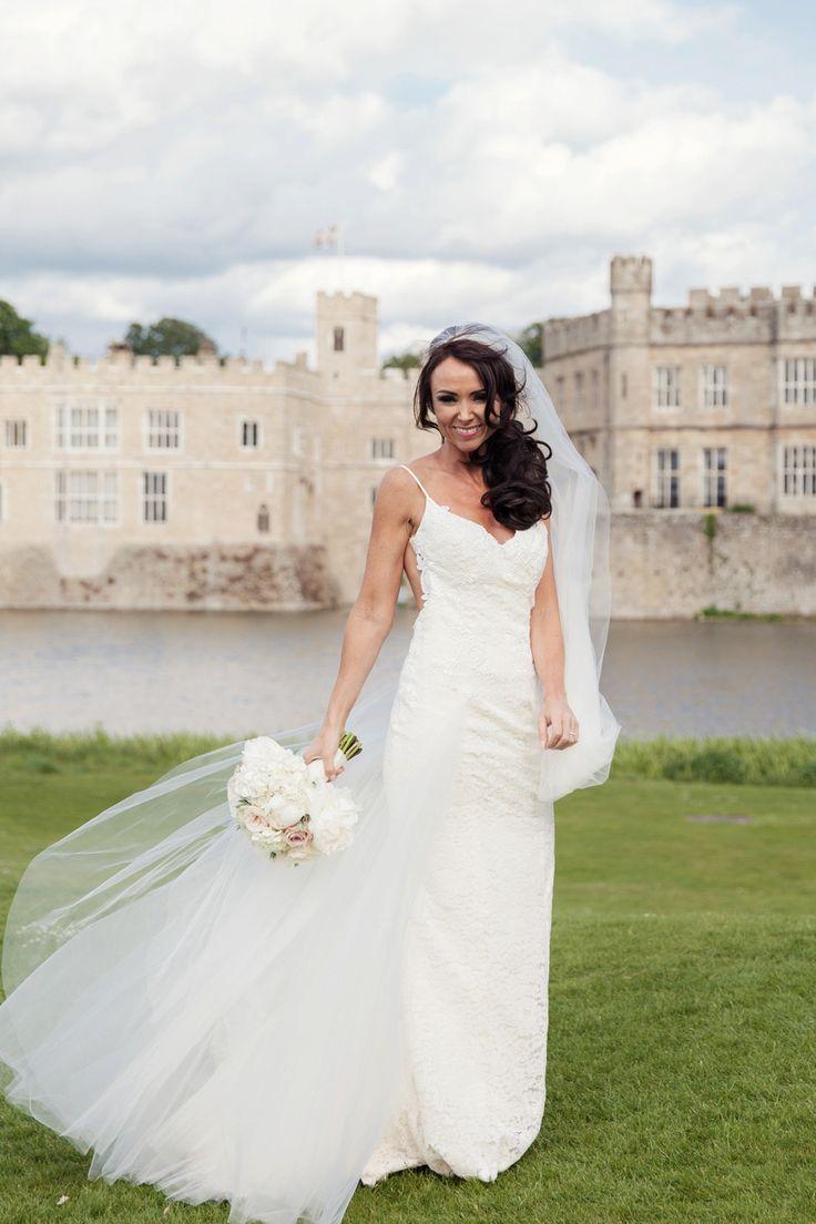 Leeds Castle Wedding Bridal Portrait Natural Photos Of Bride Beautiful Brunette