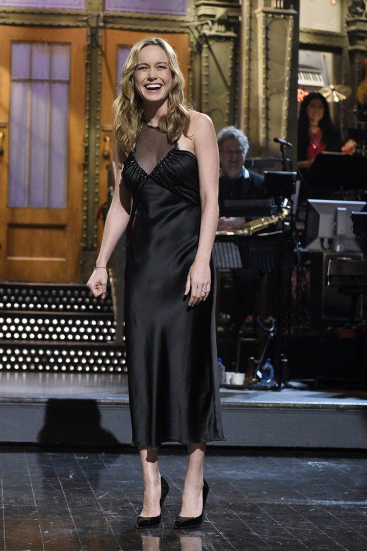 Brie Larson Hosted SNL With a Shiny New Engagement Ring on Her Finger