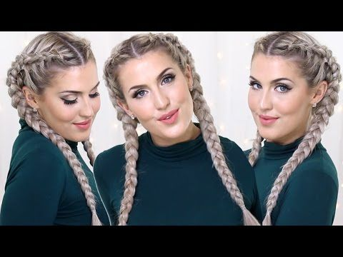 How To: Dutch Braids with Clip In Extensions - YouTube