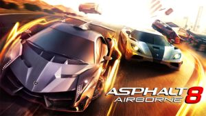 Asphalt 8: Airborne is a 2013 racing video game. It has been developed & published by Gameloft as part of the Asphalt series. The game was released on August 22, 2013 for iOS & Android, November 13 for Windows 8 & Windows Phone 8 & January 15, 2014 for BlackBerry 10.