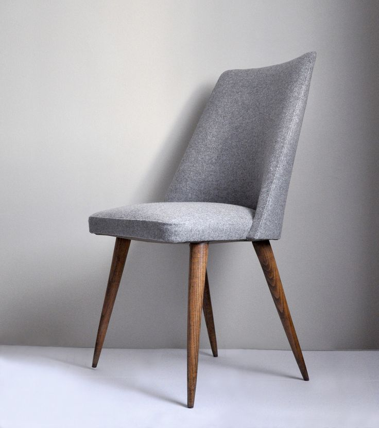 Image of CHAISE grise années 60