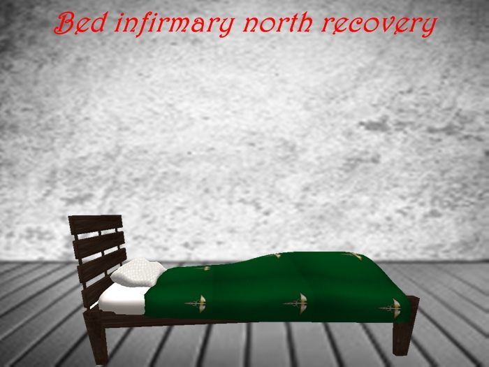 Bed for infirmary recovery with 6 animations
