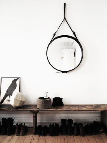 mirror-decor.trend-round-hanged-mirror- Adnet mirror by gubi #round #mirror #trend ITALIANBARK blog