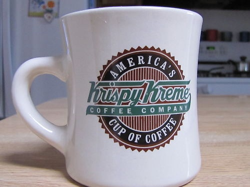 Krispy Kreme Donuts coffee cup   vintage