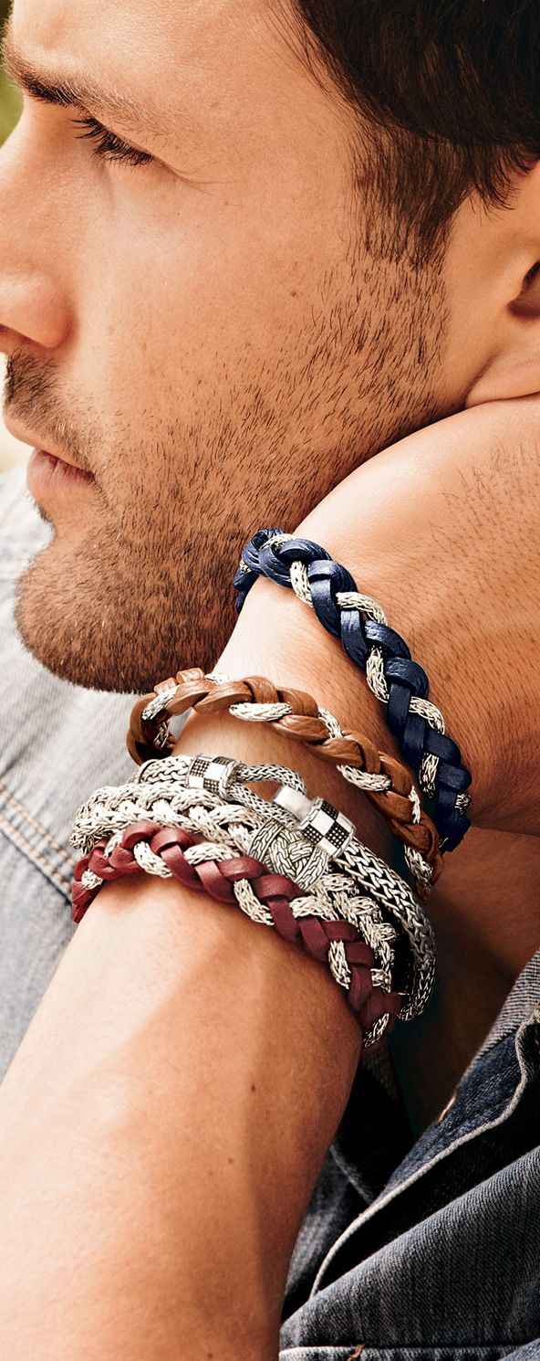 John Hardy Men's Braided Bracelet♥✤ | Keep Smiling | BeStayHandsome #cynthiawhiteandassociates #personalbrand #accessories