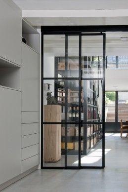 Stalen schuifdeuren, Prinsengracht | Kodde Architecten