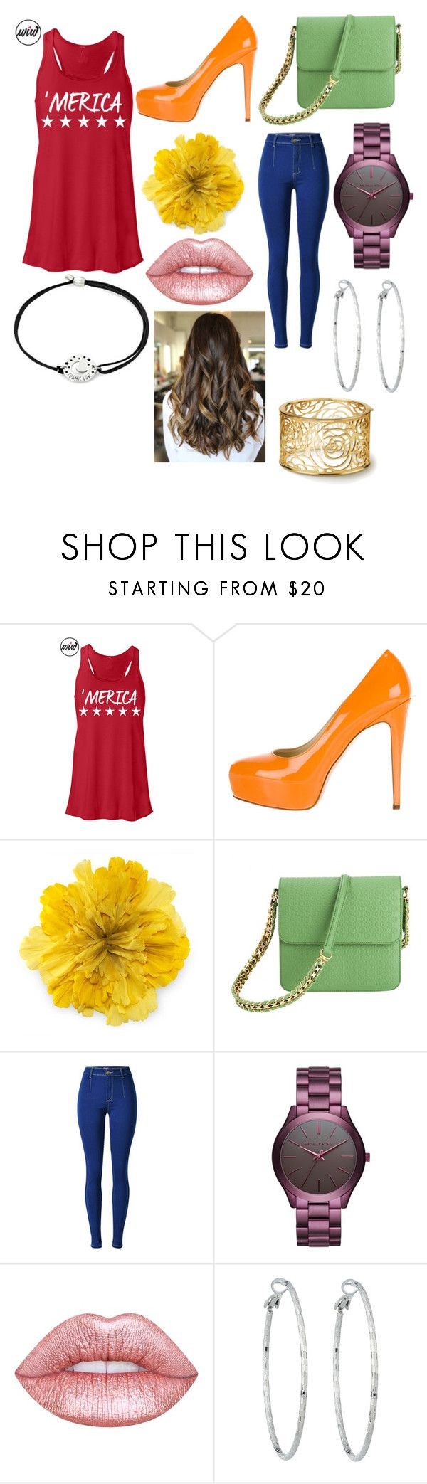 """""""What's Ure Fav Color???"""" by ashleyannmcd ❤ liked on Polyvore featuring Brian Atwood, Gucci, STELLA McCARTNEY, Michael Kors, Lime Crime, Lydell NYC and Alex and Ani"""