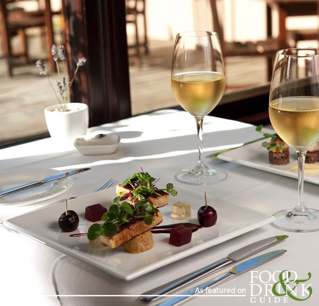 The Dining Room restaurant in Rock offers exceptional food - best enjoyed with a crisp glass of wine, like this.