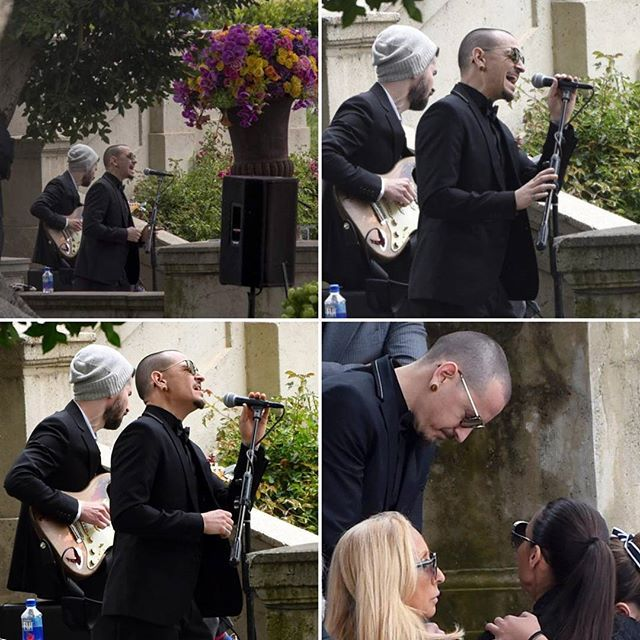 Chester Bennington performing at Chris Cornell's funeral.  #chesterbennington #chestercharlesbennington #chesterbenningtonisperfect #braddelson #linkinpark #linkinparksoldier #linkinparklive #lpsoldier #lplive #bestbandever