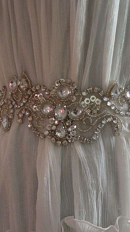 Curtain Tie-Back for my office lace curtain The Best of shabby chic in 2017.