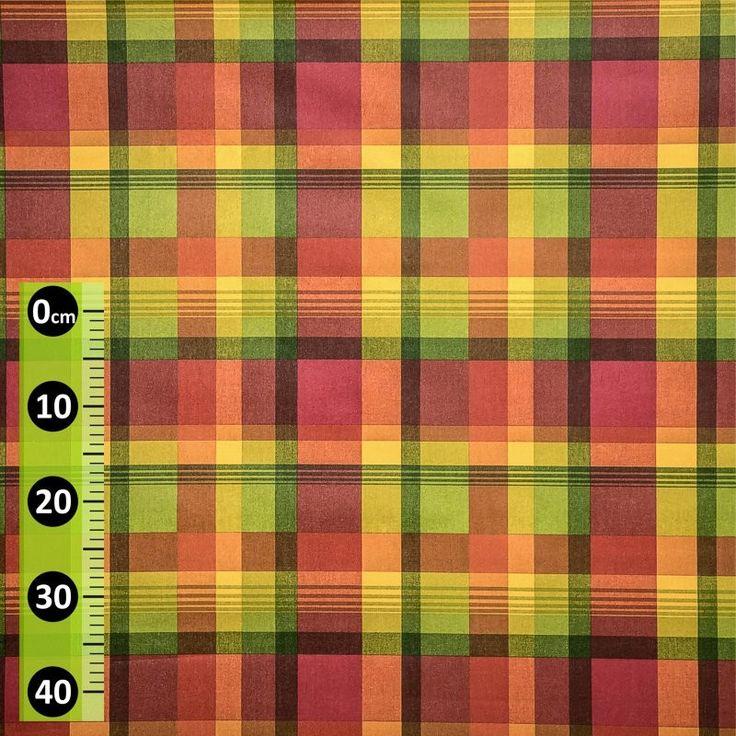 Ubrus látkový 19244-3014, nešpinivý s akrylovým nástřikem, barevné káro, š. 140cm (metráž) - Ubrusy textilní - Ubrusy - ... a ještě více | Internetový obchod Chci POVLEČENÍ.cz