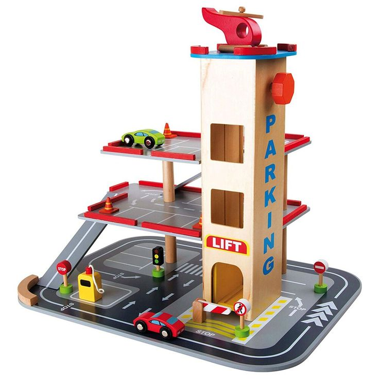 Small Foot Wooden Toys 3 Floor Parking, Parking Garage Toys