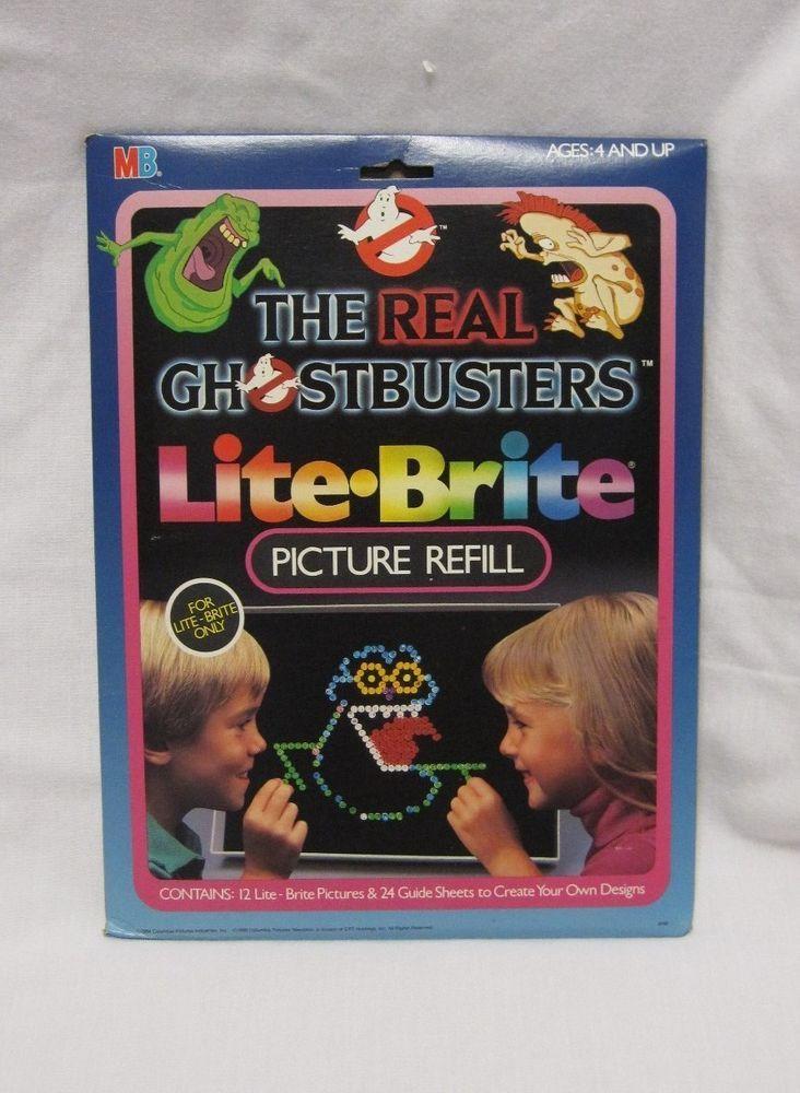 Hasbro Lite Brite Vintage Ghostbusters Picture Refill Set  #Hasbro