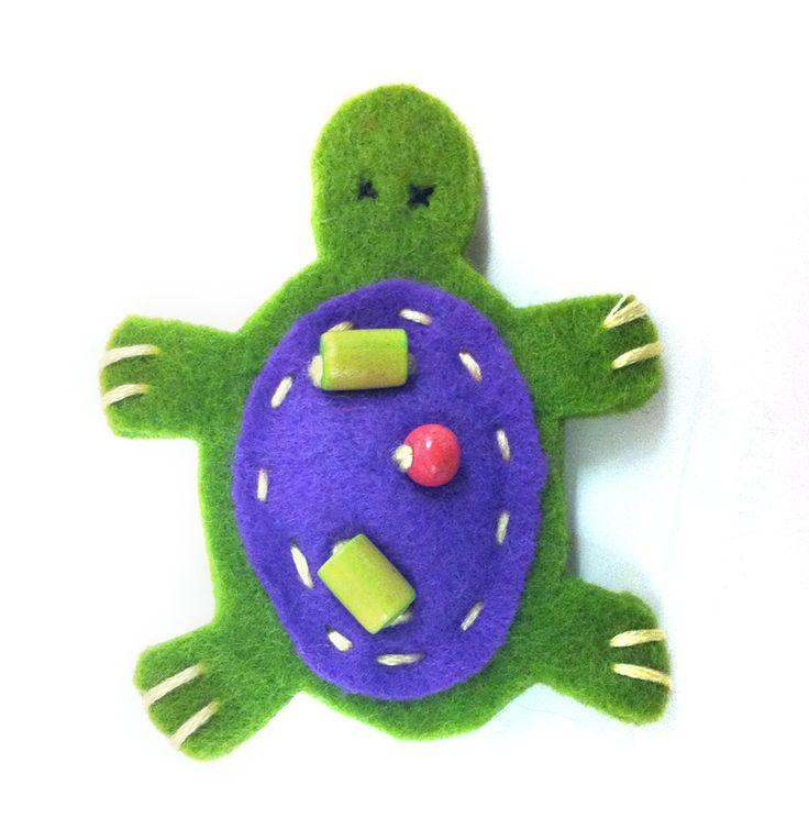 Tartaruga verde e viola