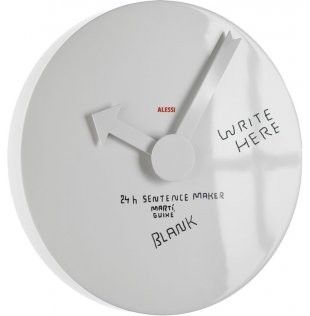 Wall Clock ohne Dekor MGU02 1 Alessi SINGLE PIECE designed by Martí Guixé for €114.00. Best price guarantee ✓ Free shipping in many countries ✓ 28 days right of return ✓ 3% discount on prepayment ✓