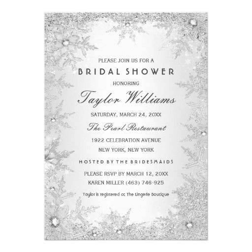 295 best Winter Snowflake Wedding Invitations images on Pinterest