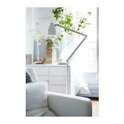 TRÅL Lattia-/lukuvalaisin, valkoinen - IKEA