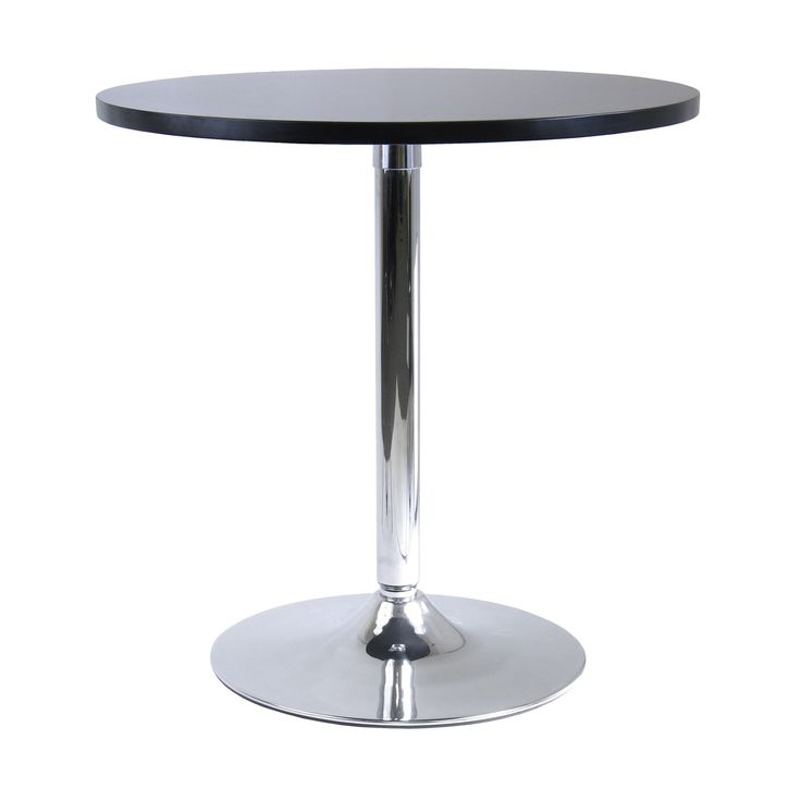 "Winsome 93729 Spectrum 29"" Round Dinning Table in Black/Metal"