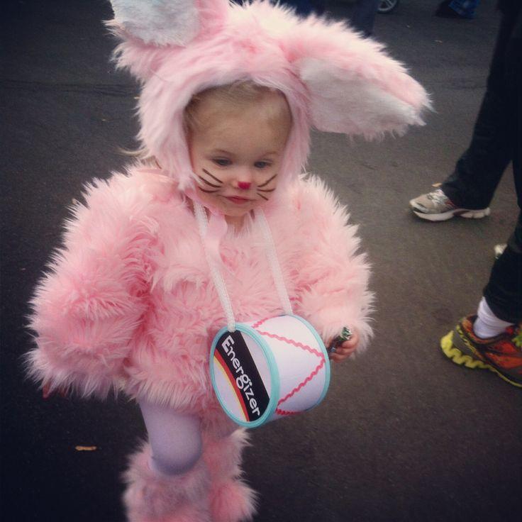 Lylas halloween costume : ) the energizer bunny