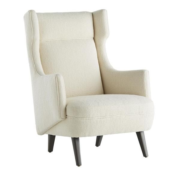 Modern Wing Chair In Boucle Seating Global Home Wing Chair