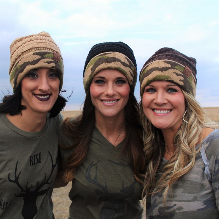 We are at it again with our one of a kind Camo Collection CC Beanies.  Pairs perfect with our Hunting Line!