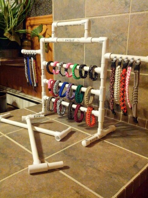 I seen one almost like this. But added the two arms to hang bracelets from, to show items that might be a little different or high lights. I made it in sections,  so it can be stored or transported. Or to have a display for a few or many. The handle can also have a sign mounted to it.