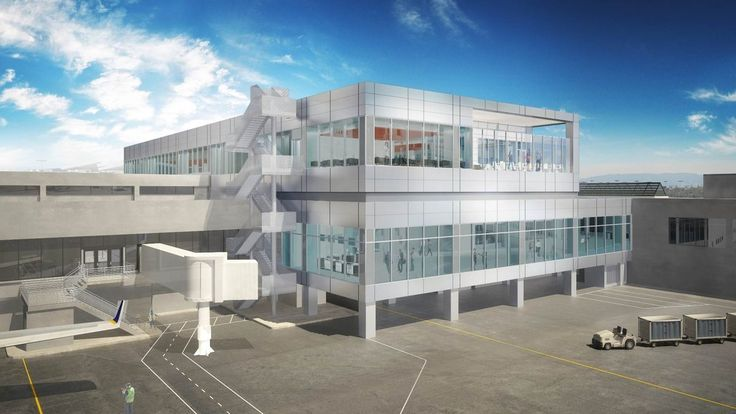 Here's the New Look Coming to LAX's United Airlines Terminal - Rendering Reveal - Curbed LA