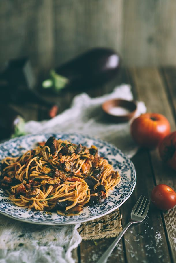 Pasta Alla Norma (Souvlaki For The Soul) must try this with slim pasta or zucchini pasta..