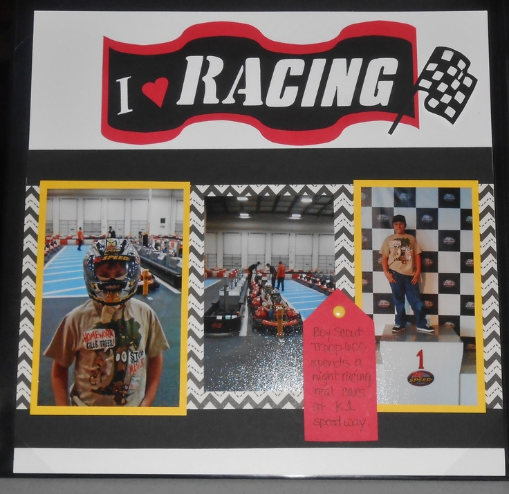 1000+ Images About Racing Scrapbook Ideas On Pinterest