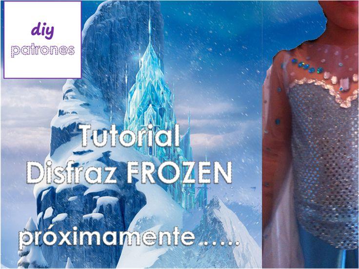 Patrón disfraz Elsa de Frozen  www.patronesdiy.com #elsa #frozen #disfraz #pattern #patron