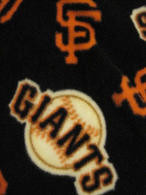 San Fransisco Giants Team on Black Blanket by CutnTiedbyRedYvette, $40.00