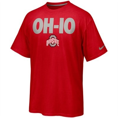 Nike Ohio State Buckeyes Rise & Roar OH-IO T-Shirt - Scarlet