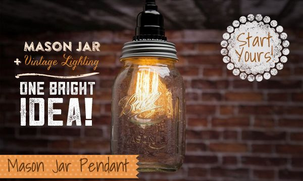 Learn How to Make Your Own Mason Jar Pendant