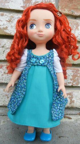 Lot-of-16-Doll-Clothes-Spring-Dress-Fits-Disney-Animator-Merida