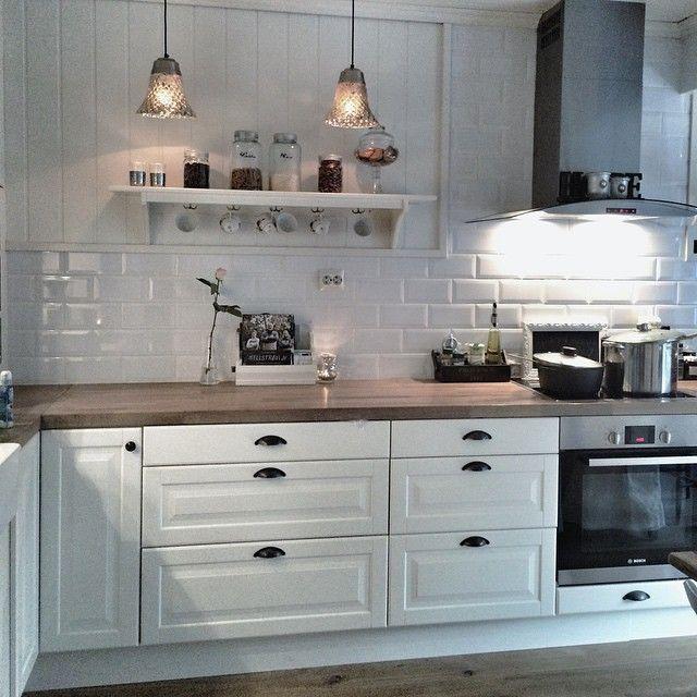 21 best Küche images on Pinterest Country kitchens, Home ideas - spritzschutz küche ikea